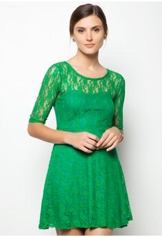 Quarter Full Lace Flare Dress