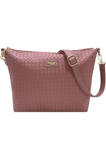 STRAWBERRY QUEEN pink Strawberry Queen Flamingo Sling Bag (Rattan Z, Pink) 062F4AC8BADF90GS_1