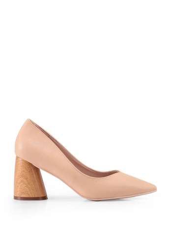 nose 米褐色 Wooden Heel Pumps C0A1BSH668290DGS_1