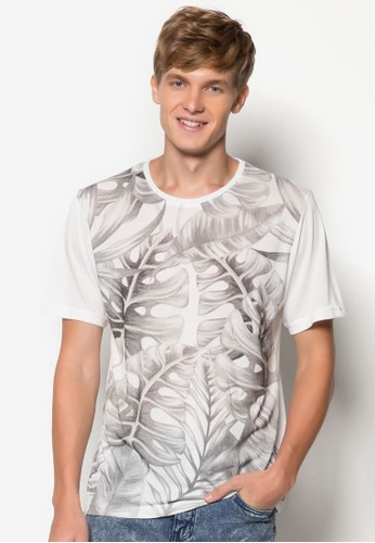 Mesprit outlet hong kongonstera 印花TEE, 服飾, 印圖T恤