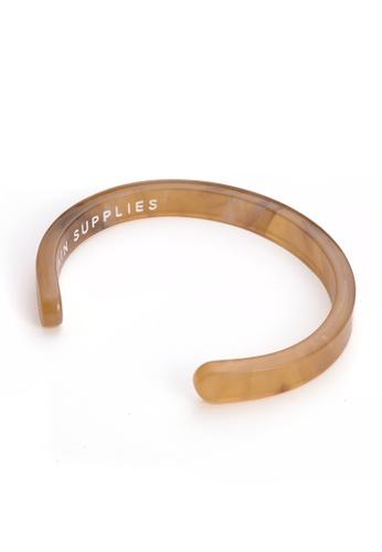 PLAIN SUPPLIES brown Acte Bracelet — Wheat 6BCAFAC1BD7E88GS_1