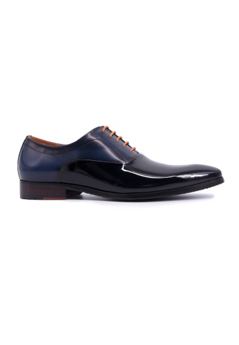 Rad Russel black Rad Russel Lace Up Oxford With Shiny Leather- Black CC3F9SH84FFC41GS_1