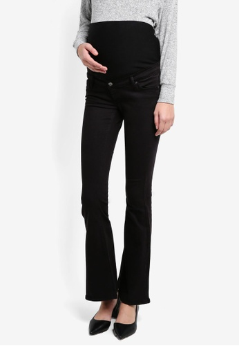TOPSHOP black Maternity Flared Jamie Jeans TO412AA0T0WNMY_1