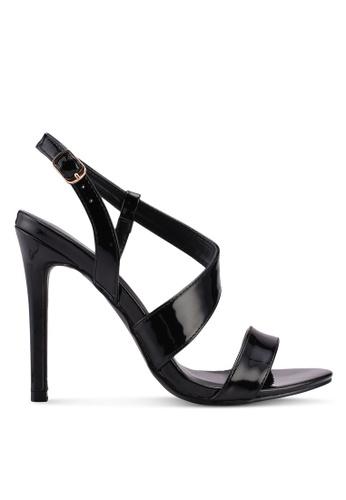 Something Borrowed black Strappy Heels 909C9SH3D95636GS_1