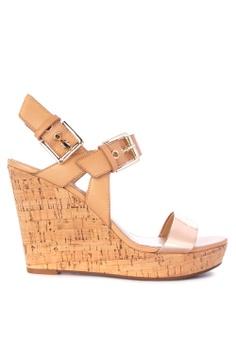 469e712c64a Nine West brown Scarlett Wedge Sandals DE7E8SH27FCA67GS 1