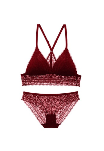 W.Excellence red Premium Red Lace Lingerie Set (Bra and Underwear) 79131US78C6083GS_1