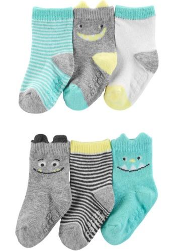 Carter's multi CARTER'S Boy Monster 6 Pack Socks 9635AKA466E24CGS_1