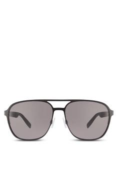 5097e30617 Boss Orange black Metal with Back Rim Soldered Temple Sunglasses  BO434GL88HRVMY 1