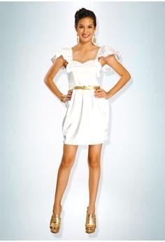Devidasi White Unique Angelic Cocktail Dress