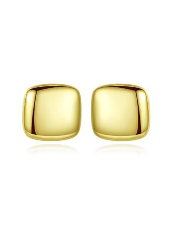 SUNRAIS gold High quality Silver S925 gold simple design earrings AC808AC37C19B8GS_1