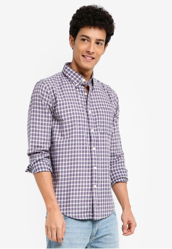 Abercrombie & Fitch 藍色 Washed Plaid Shirt 2E826AAE0D6805GS_1