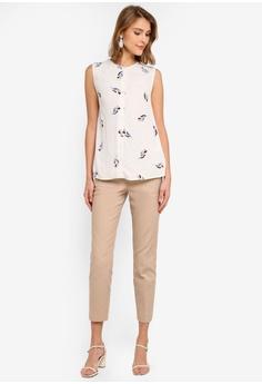 784b325f476 WAREHOUSE Tulip Print Sleeveless Blouse S$ 89.90. Sizes 6 8 10 12 16