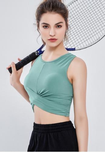 Trendyshop green Quick-Drying Yoga Fitness Sports Sleeveless Bras 2FDE4US5BE91BBGS_1
