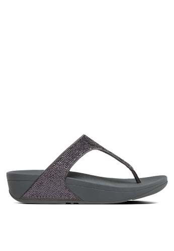 Fitflop silver Electra Micro Toe-Post Sandals FI522SH99SCMMY_1