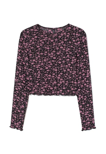H&M black and multi Long-Sleeved Top 55971AA1B04433GS_1
