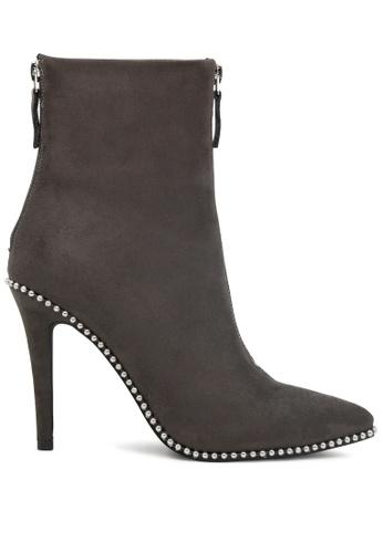 London Rag 灰色 高跟踝靴 SH1786 DE16ASHFCC4C1EGS_1