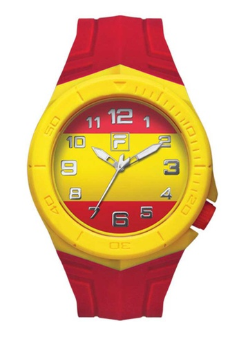 FILA Watches red Fila Yellow and Red Rubber Watch D609AAC8C4A6EEGS_1