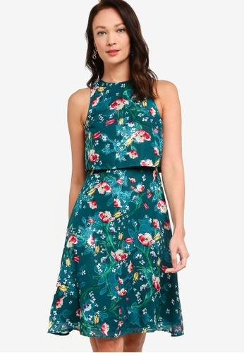 ZALORA OCCASION multi Double Layer Fit & Flare Dress 2F091AAEED1EC3GS_1