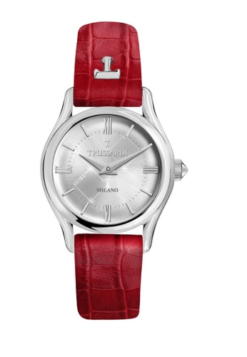 Trussardi red Trussardi T-Light Red Leather Ladies Watches R2451127502 A21A5AC8D30D8AGS_1