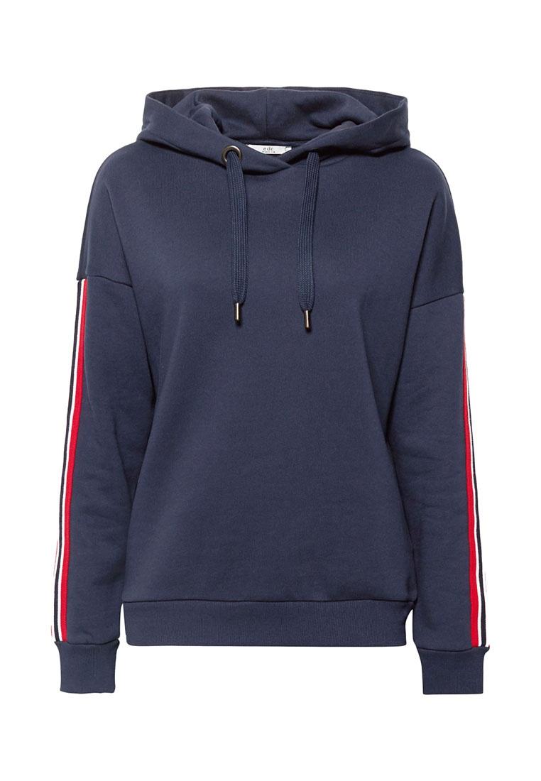 Navy ESPRIT Hoodie Sleeve Long Sweatshirt wxIqfvT