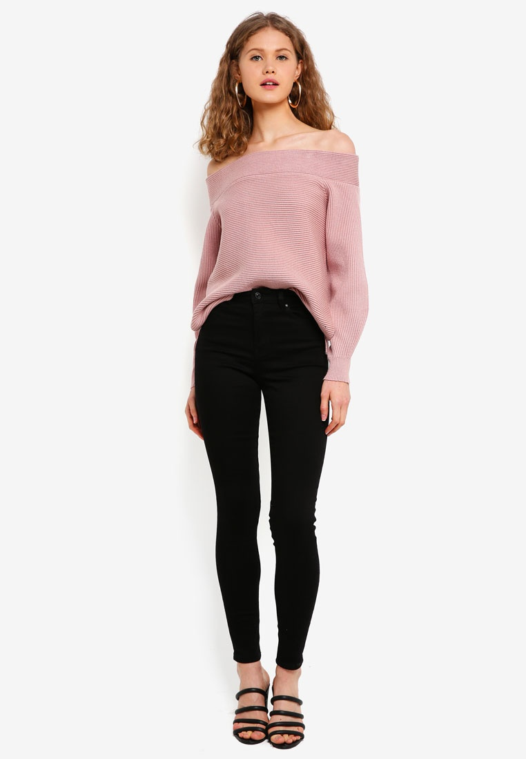 Jumper Melania New Shoulder Blush Off Forever zw0gqIYH
