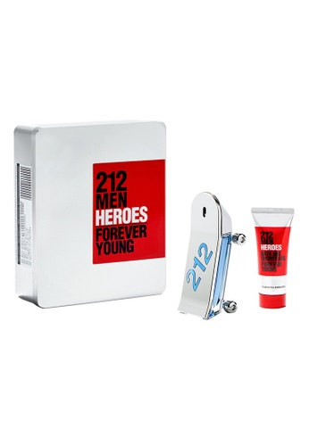 Carolina Herrera silver 212 HEROES MAN EDT 90ml + Body Wash 100ml 5869ABE6E23975GS_1