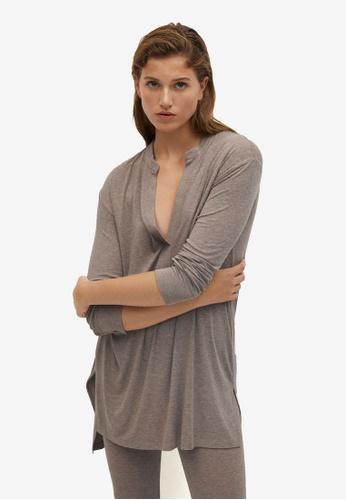 Mango brown Oversize T-Shirt BCD7FAA188280FGS_1