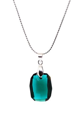 Torenda green Graphic Pendant Kalung Liontin Swarovski - Hijau (Emerald) C02B0AC5562986GS_1