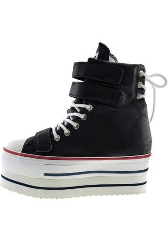 Maxstar Maxstar Women's CN9 3 Belts Hidden Heel Double Platform PU Sneakers US Women SizeBoots US Women Size MA168SH27ZVOHK_1