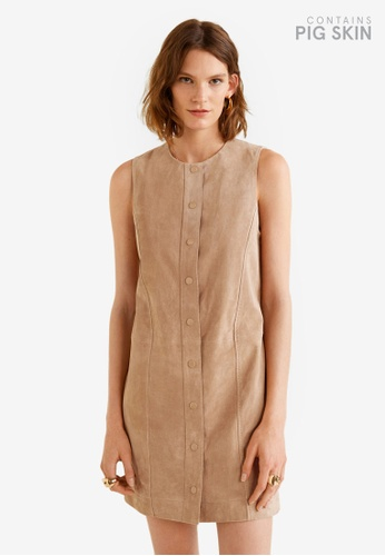 Mango pink Leather Dress A4B06AA099192FGS_1