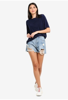 995036835b3940 50% OFF MISSGUIDED Soft Touch Oversized T-shirt S  33.90 NOW S  16.90 Sizes  6 8. MISSGUIDED beige Button Front Polo Crop Top 165D2AA6A59606GS 1