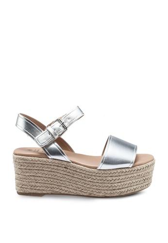 Call It Spring silver Siestafiesta Open Toe Wedge Heels 8AB3CSH522D558GS_1