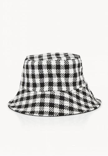 06f22e759c3a5 Buy Pomelo Reversible Gingham Bucket Hat - Black White Online on ZALORA  Singapore