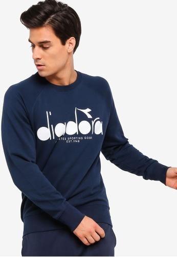 Diadora blue Crew 5Palle Sweatshirt 1CDB7AA13F89CDGS_1