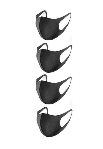 Glamorbit black Adult Reusable Washable Scuba Mask ( 4 Pieces ) C8E7AES86EC176GS_1