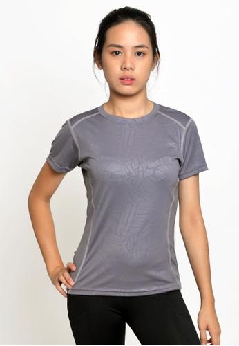 ViQ grey ViQ Ladies Slim Fit Sports Top 400A4AA81A5148GS_1