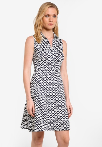 ZALORA white Essential Collar Fit and Flare Dress EF0ADZZCF35400GS_1