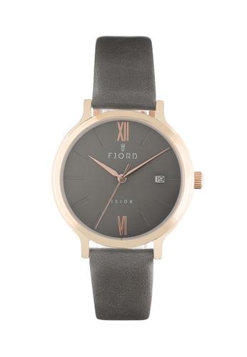 Fjord grey Fjord Women's Genuine Leather Watch - FJ-6048-03 C4C15AC35F731CGS_1