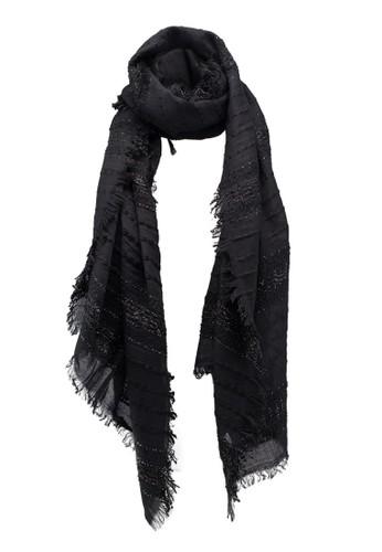 OVS black Yarn Detail Scarf 955ABACB97EBFFGS_1