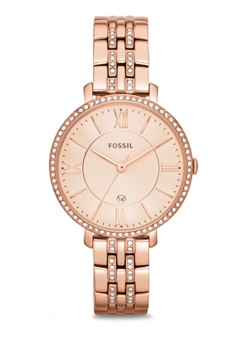 Buy Fossil Fossil Jacqueline Rose Gold Watch Es3546 Online Zalora