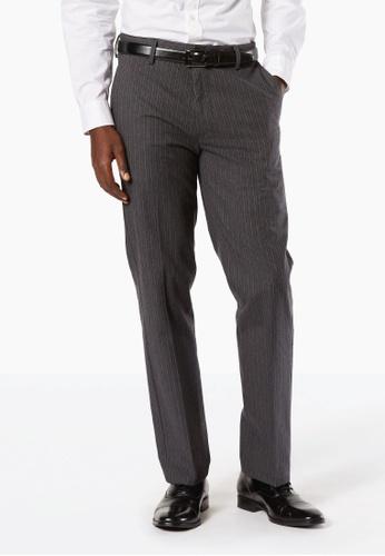 Dockers black Dockers Signature Stretch Khaki Slim Pants Charcoal 4FC6BAA5FAA2C5GS_1