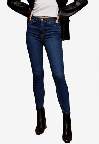 TOPSHOP blue Rich Blue Jamie Skinny Jeans 058EFAAA49A7F3GS_1