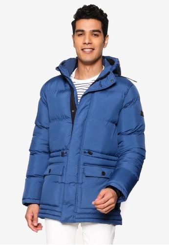 BLEND blue Hooded Puffer Parka 94D12AA9D652CBGS_1