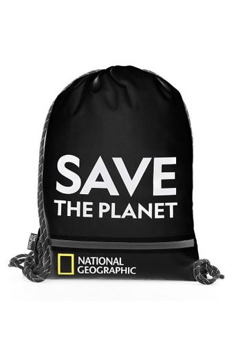 National Geographic black National Geographic Saturn Drawstring Bag Black 6DF79AC3C72772GS_1