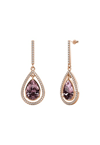 LOVE AND LIFE gold Love & Life Royal Queen Earrings (Iris - Rose Gold) embellished with Crystals from Swarovski F35EAAC4B9512FGS_1