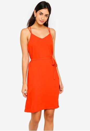 ZALORA orange Cross Back Cami Dress 22BEDAA76CD7B9GS_1
