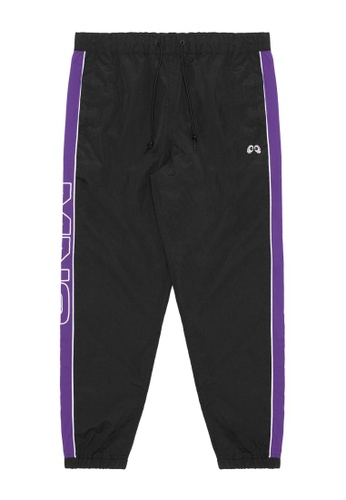 Mini cream black MNC Striped logo track pants 7384BAA35C65D5GS_1