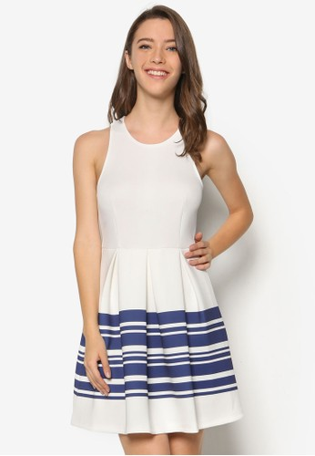 條紋無袖連身裙, esprit分店地址服飾, 洋裝