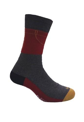 Mundo grey Mundo Jeans Casual Men Sock - JN2P004 3582FAA361DB84GS_1
