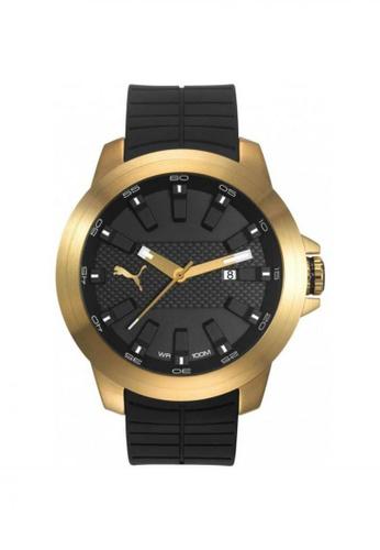 Puma black PU103901004 Drill Gold Black Men Watch PU549AC0SHUEMY_1